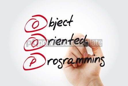 Business: Hand writing OOP Object Oriented Programming with marker acrony #11081