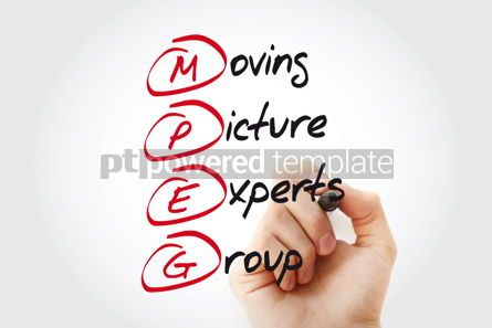 Business: Hand writing MPEG Moving Picture Experts Group with marker acro #11082