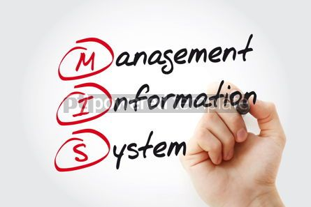Business: Hand writing Management Information System with marker concept  #11085