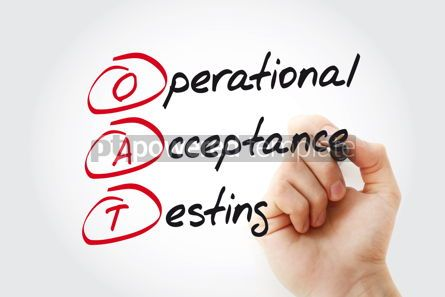 Business: Hand writing OAT Operational Acceptance Testing with marker acr #11088
