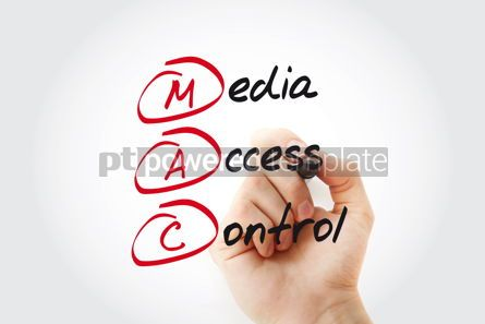 Business: MAC - Media Access Control acronym with marker technology conce #11089