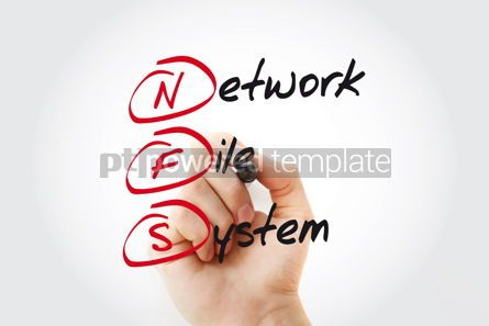 Business: NFS - Network File System acronym with marker concept #11093
