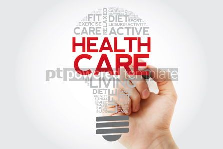 Health: Health care bulb word cloud collage with marker health concept  #11106