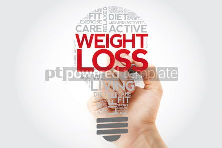 Health: WEIGHT LOSS bulb word cloud collage with marker health concept  #11127