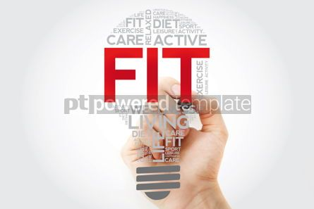 Health: Fit bulb word cloud with marker health concept background #11131