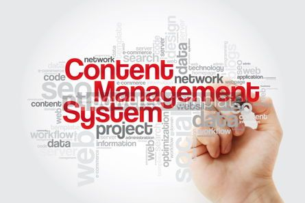 Business: Content Management System word cloud with marker business conce #11132