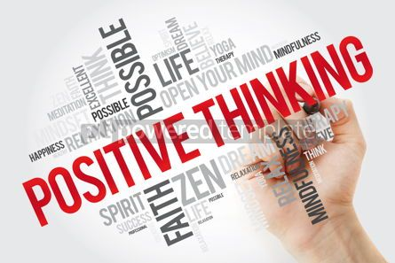 Health: Positive thinking word cloud with marker health concept backgro #11133