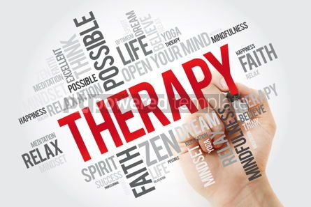 Health: Therapy word cloud with marker concept background #11135
