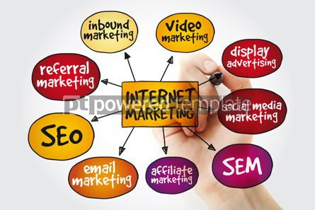 Business: Internet marketing mind map with marker business concept #11162