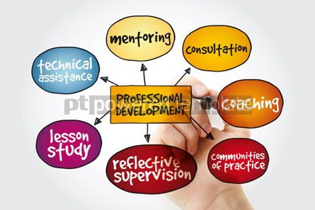 Business: Professional development mind map with marker business concept #11163