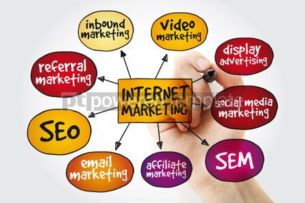 Business: Internet marketing mind map with marker business concept #11172