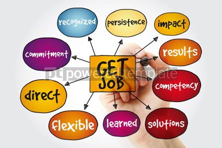 Business: Get job mind map with marker business concept background #11175