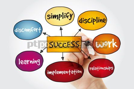 Business: Success mind map with marker business concept #11176
