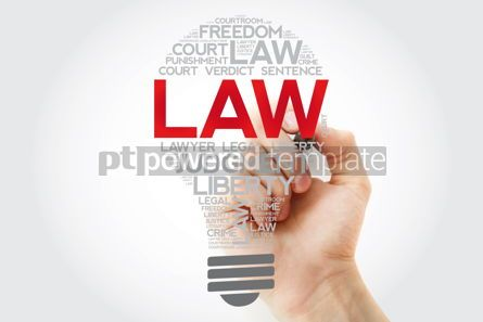 Business: LAW bulb word cloud collage with marler concept background #11179