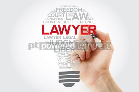 Business: Lawyer bulb word cloud with marker law concept background #11183