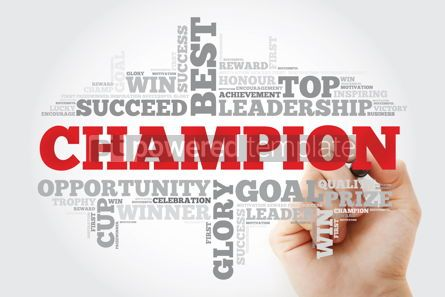 Business: Champion word cloud collage with marker business concept backgr #11189