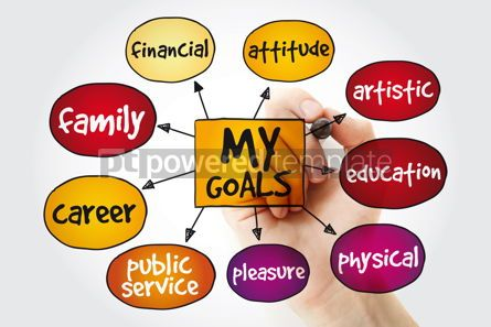 Business: My Goals mind map with marker business concept background #11197