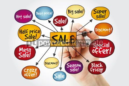 Business: Sale tags mind map with marker great sale special offer sale  #11198