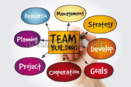 Business: Team building mind map with marker business concept background #11217