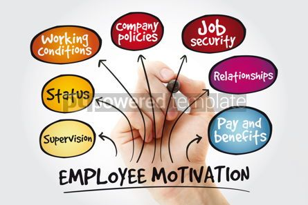 Business: Employee motivation mind map with marker business management st #11229