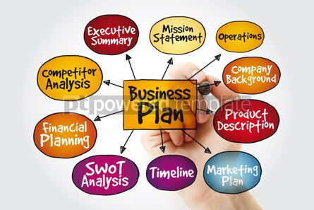 Business: Business plan management mind map with marker strategy concept #11235