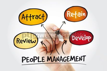 Business: People Management mind map with marker business concept #11237