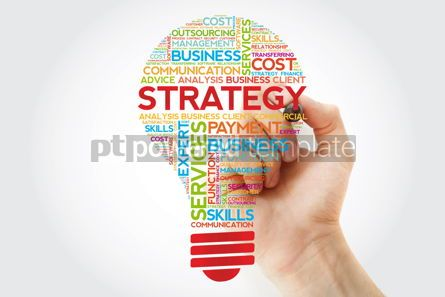 Business: Strategy bulb word cloud with marker business concept #11244