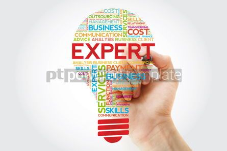 Business: Expert bulb word cloud with marker business concept #11248