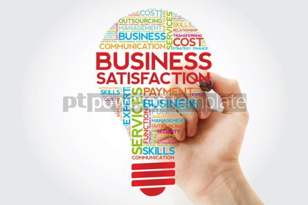 Business: Business Satisfaction bulb word cloud with marker business conc #11250