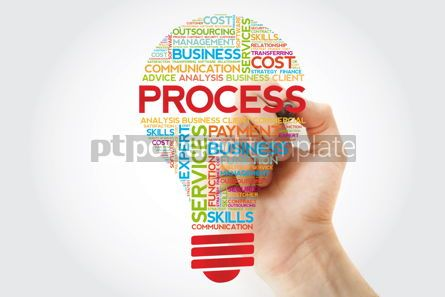 Business: Process bulb word cloud with marker business concept #11252