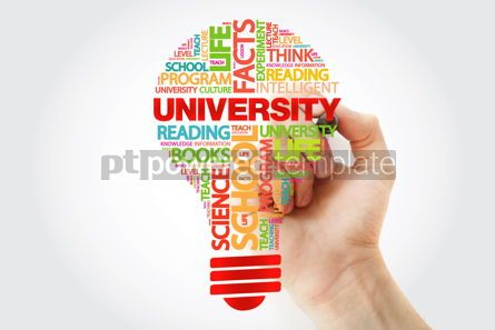 Business: UNIVERSITY bulb word cloud with marker business concept #11257