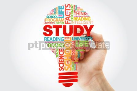 Business: STUDY bulb word cloud with marker business concept #11259