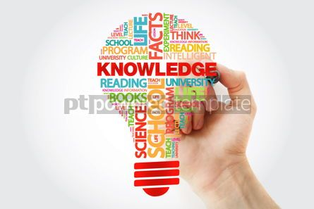 Business: KNOWLEDGE bulb word cloud with marker business concept #11262