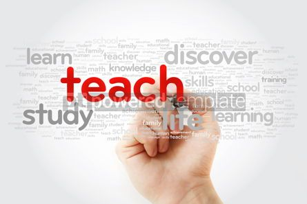 Business: TEACH word cloud with marker education concept background #11275