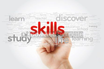 Business: SKILLS word cloud with marker education concept background #11279