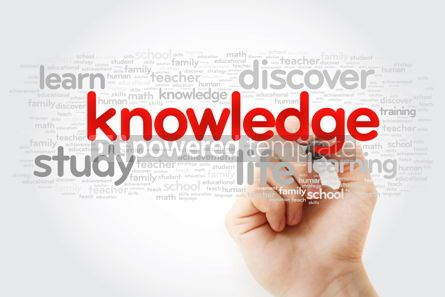 Business: KNOWLEDGE word cloud with marker education concept background #11283