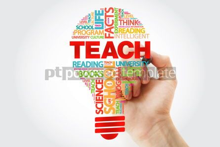 Business: TEACH bulb word cloud with marker business concept #11289