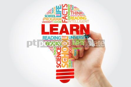 Business: LEARN bulb word cloud with marker business concept #11290