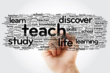 Business: TEACH word cloud with marker education concept background #11298