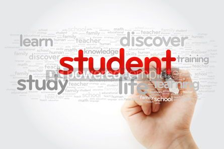 Business: STUDENT word cloud with marker education concept background #11299