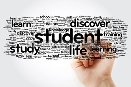 Business: STUDENT word cloud with marker education concept background #11300