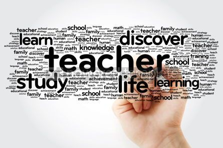 Business: TEACHER word cloud with marker education concept background #11304