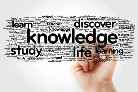 Business: KNOWLEDGE word cloud with marker education concept background #11306