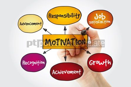 Business: Motivation mind map with marker business concept background #11315