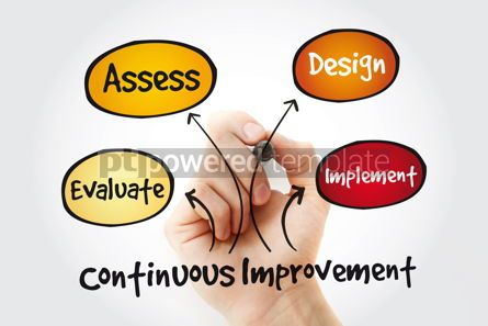 Business: Continuous improvement process cycle with marker business conce #11318