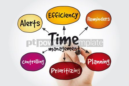 Business: Time management business strategy mind map with marker business #11324