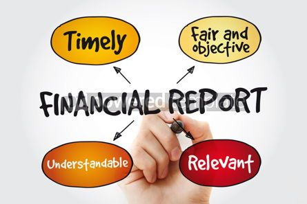 Business: Financial reports mind map with marker business concept backgro #11337