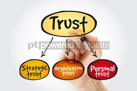 Business: Trust business mind map concept with marker #11339