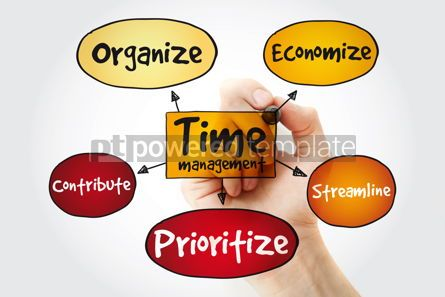 Business: Time management business strategy mind map concept with marker #11355