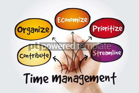 Business: Time management business strategy mind map with marker concept  #11356